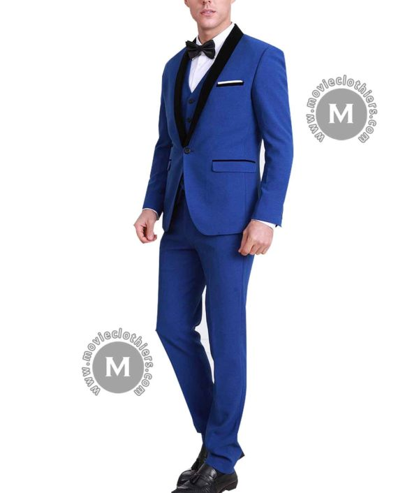 Blue Ryan Gosling Tuxedo Suit