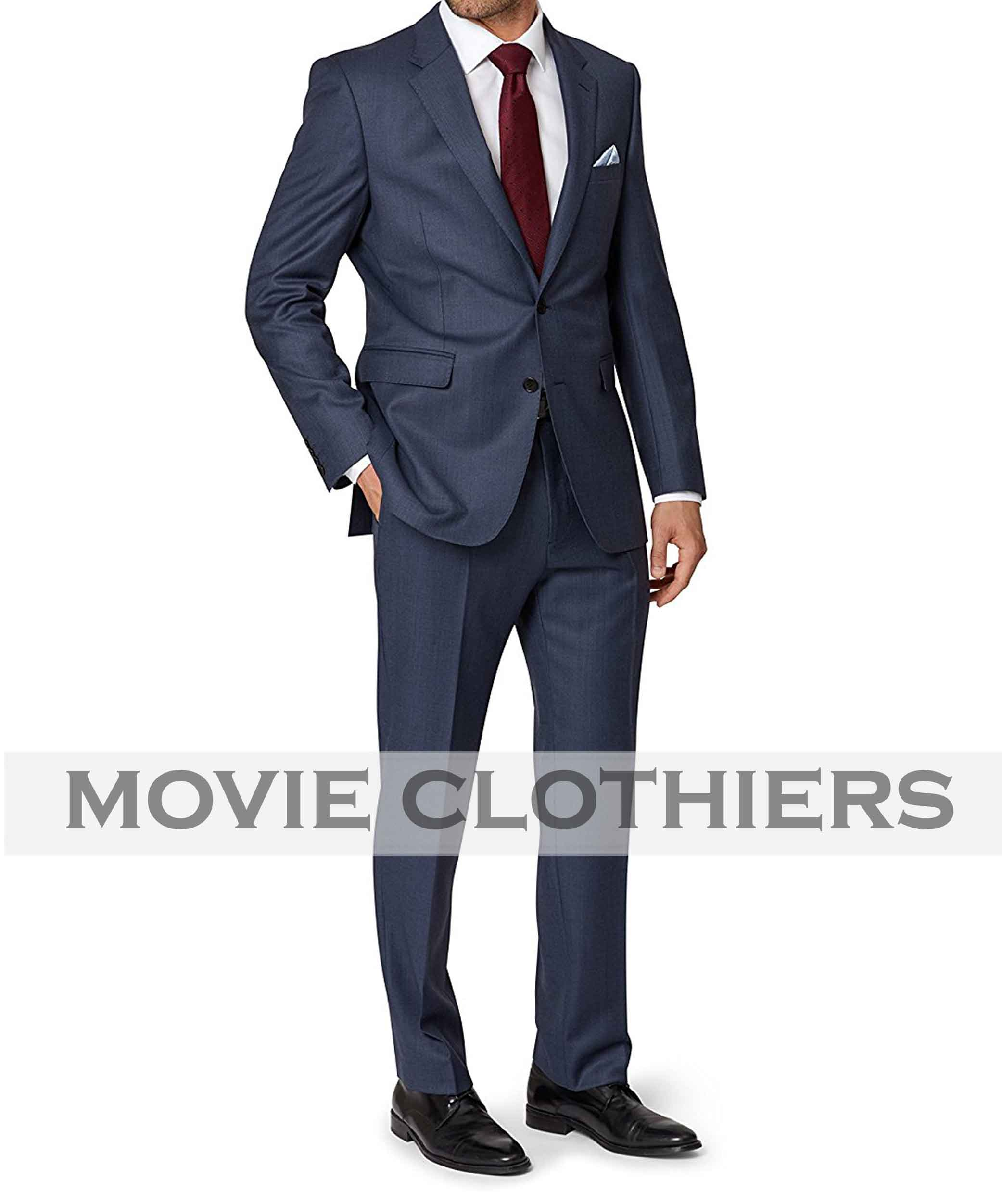 Spectre Blue Sharkskin Suit