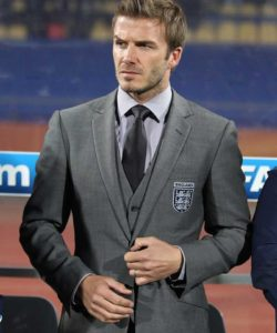David Beckham world cup suit