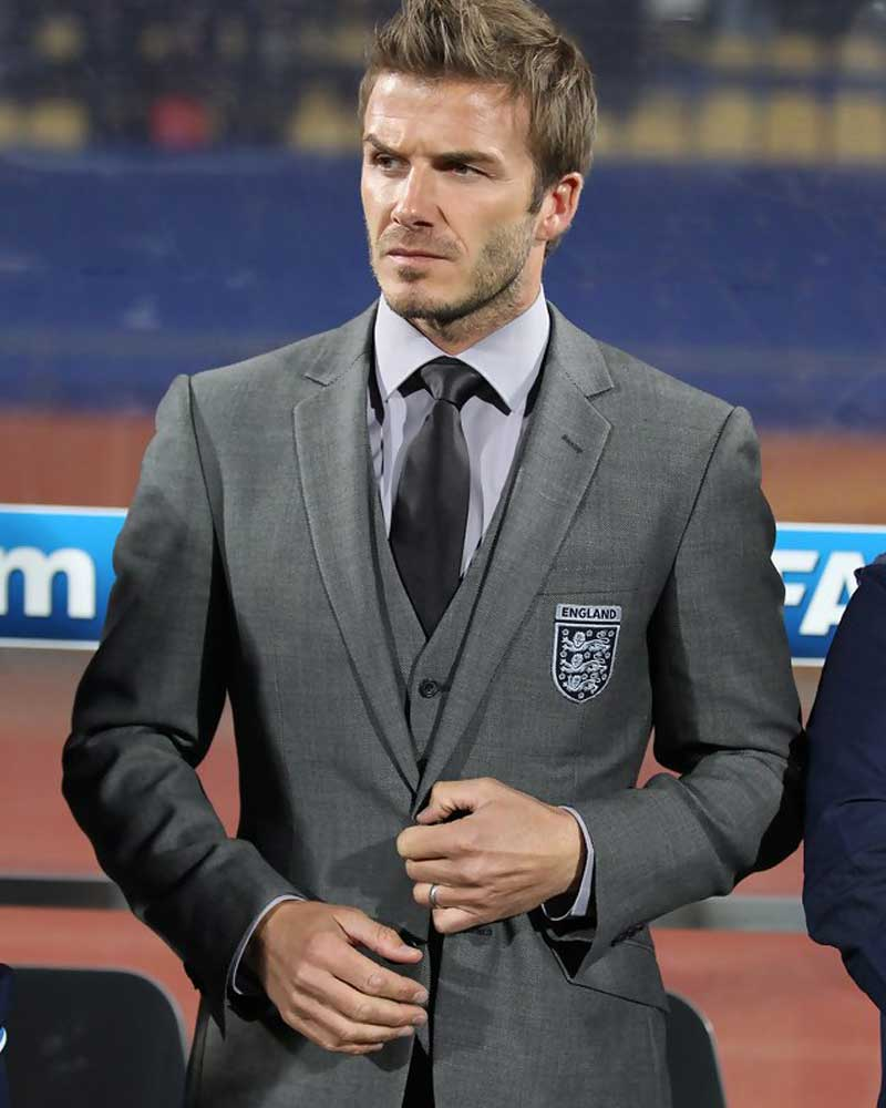 David beckham grey suit - David beckham ...