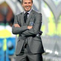 David Bekham Grey Suit