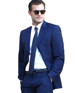 Jamie Dornan Christian Grey Blue Suit