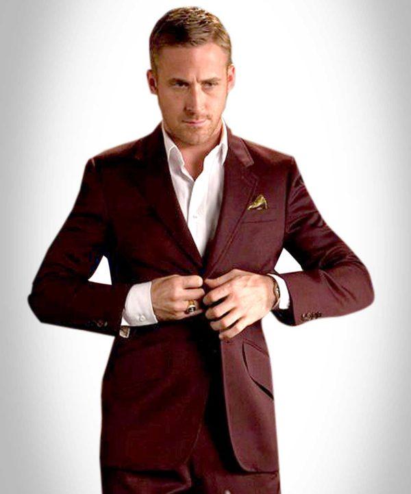 Maroon Ryan Gosling Suit