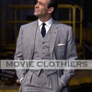 Sean Cnnery Grey Suit James Bond Three Piece Suit Goldfinger