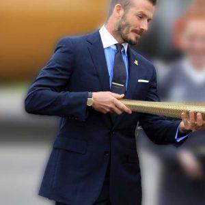 david beckham blue suit