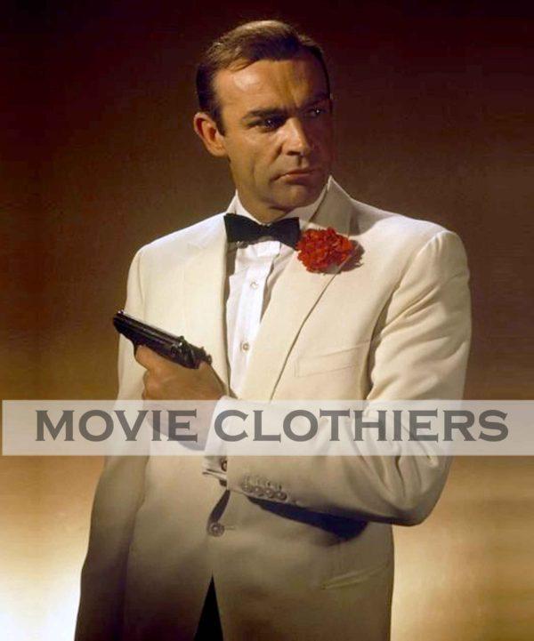 goldfinger james bond whtie tuxedo costume