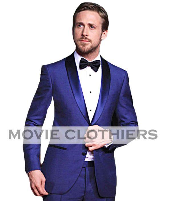 ryan gosling navy tuxedo