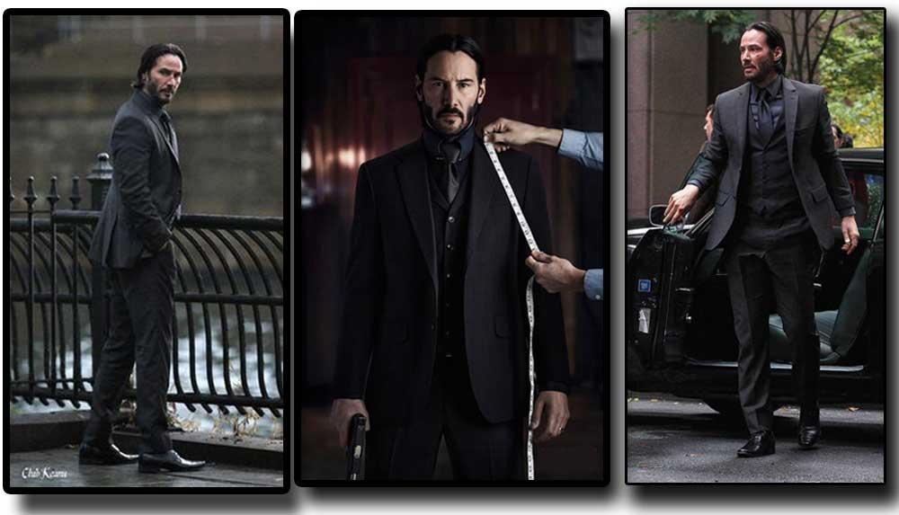 Black Three Piece John Wick Suit