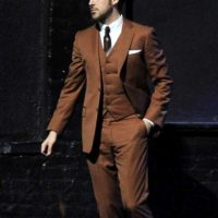 Brown Three Piece Ryan Gosling Suit La La Land