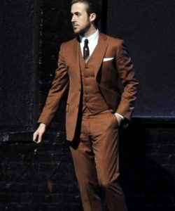Brown Three Piece Ryan Gosling Suit La La Land