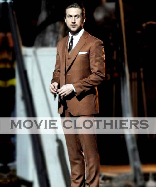 ryan gosling brown suit la la land
