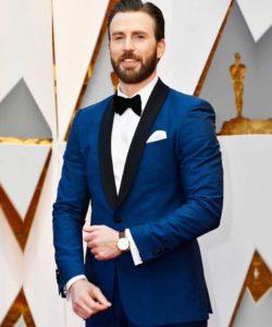 Chris Evans Blue Tuxedo