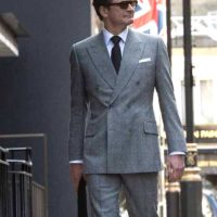 Colin Firth Double Breasted Suit