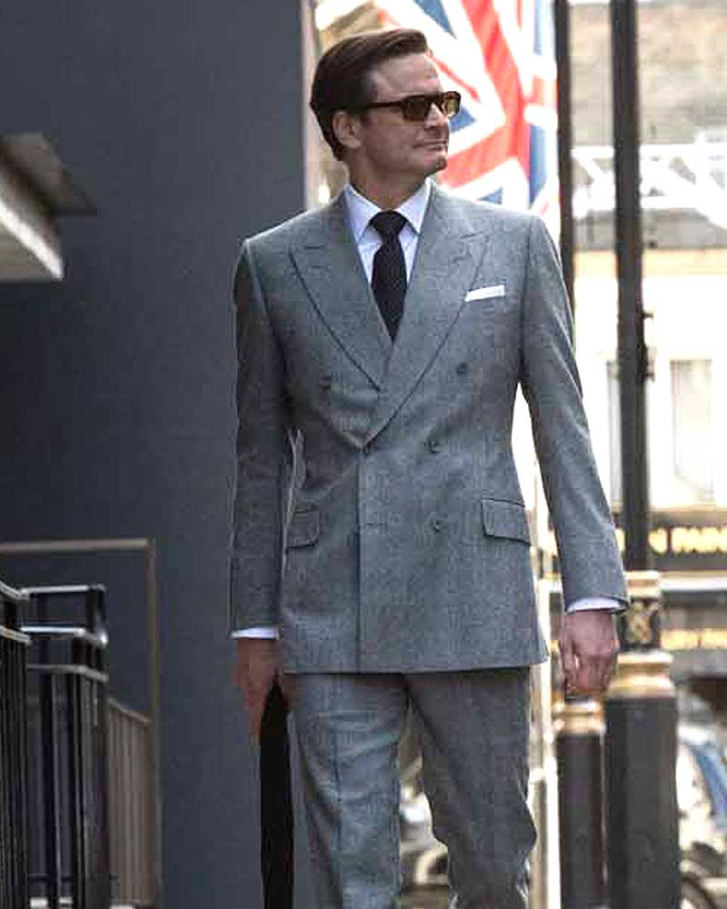 Colin Firth Grey Kingsman Suit -