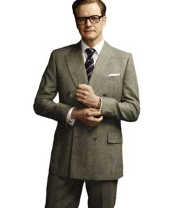Colin Firth Grey Suit