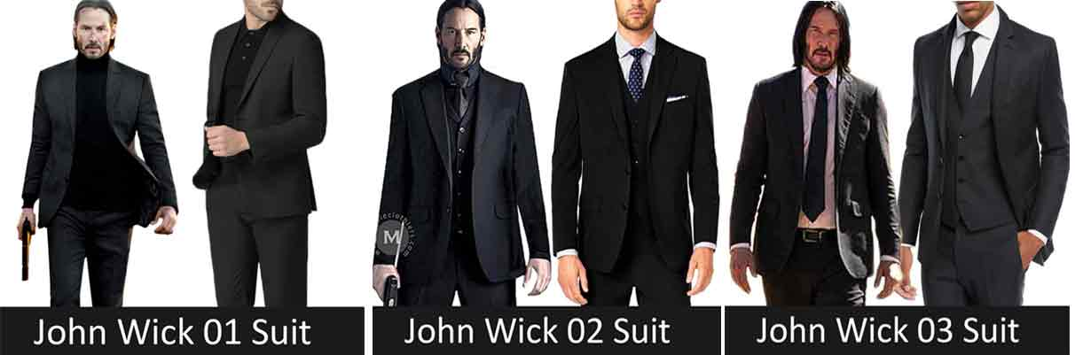 evolution of john wick suits