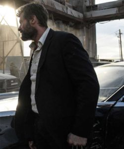 Huge Jackman Black suit