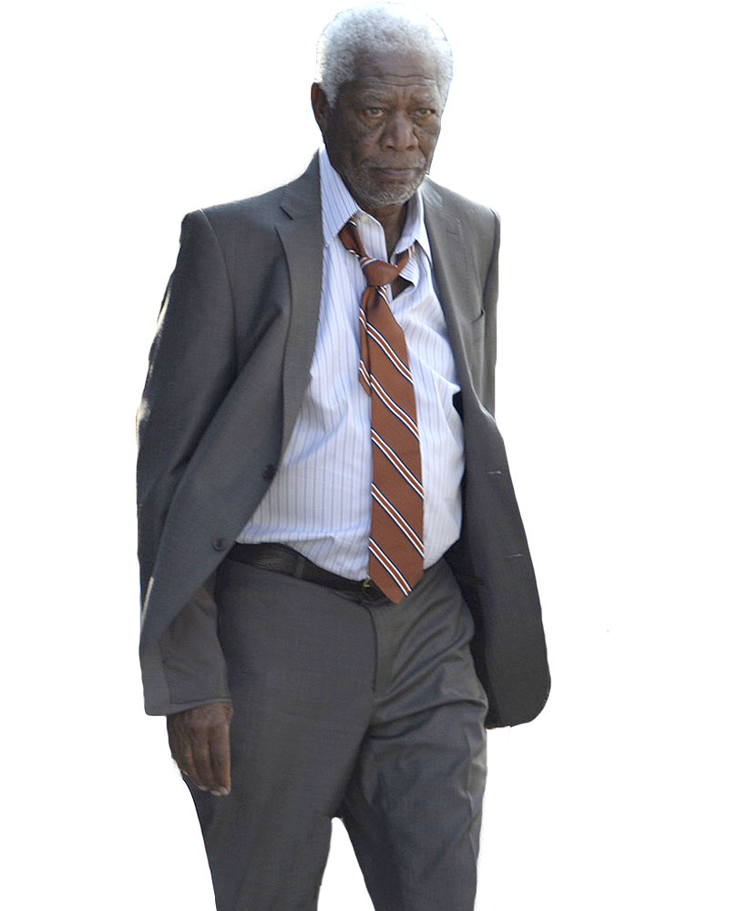 Morgan Freeman going in style suit