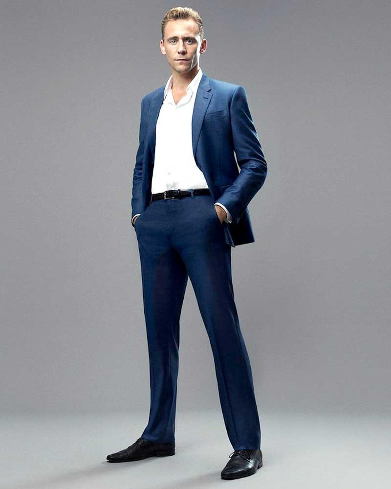 James Bond Spectre Sharkskin Suit: Daniel Craig Spectre Blue Suit