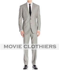Ryan Renolds Hitman Body Guard suit mens grey suit