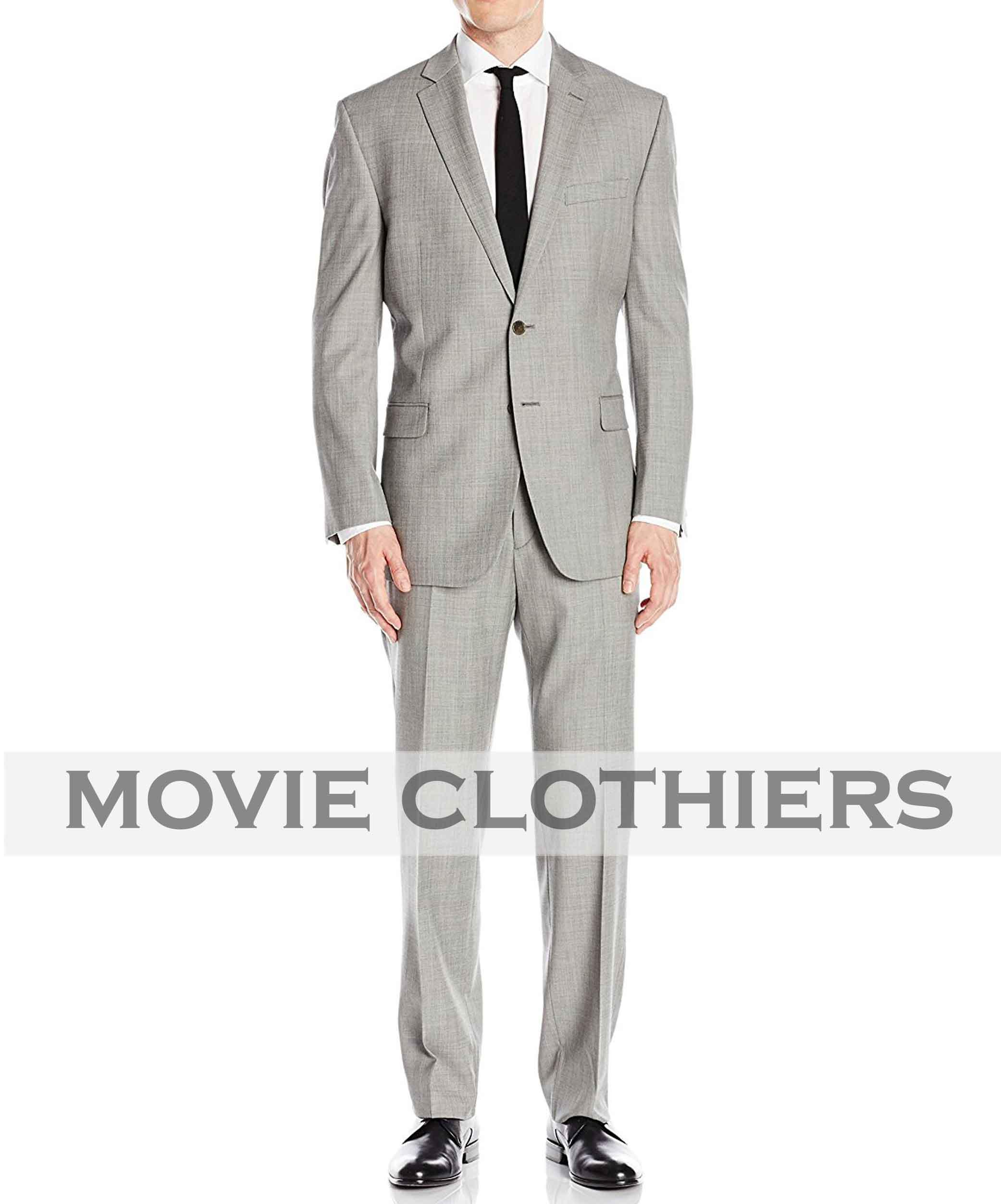 Ryan Renolds Hitman Body Guard suit mens grey suit