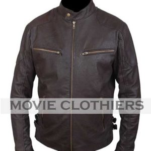 captain america civil war brown leather jacket