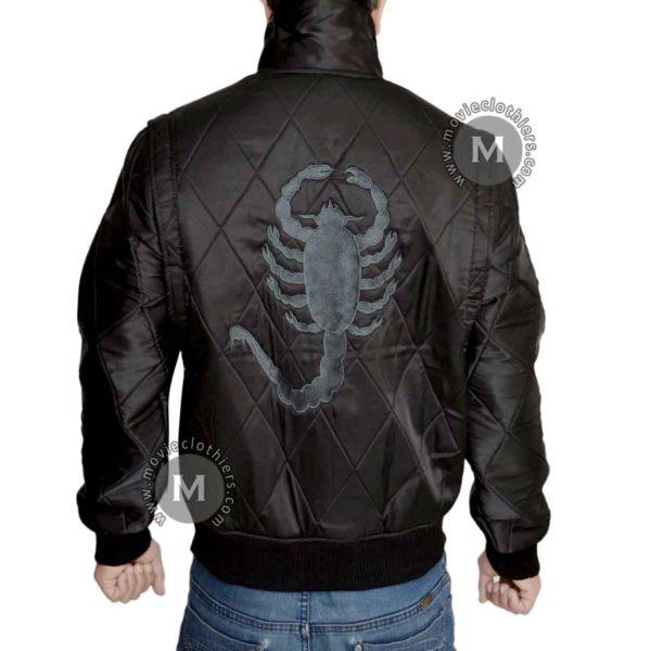 drive satin scorpion jacket