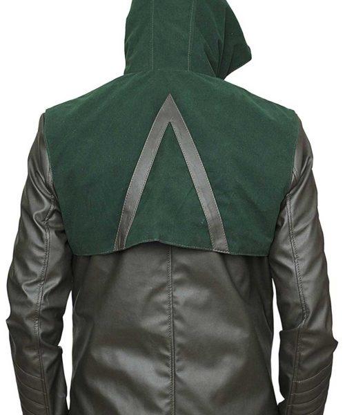 green arrow hoodie jacket