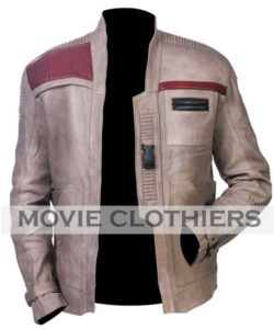 john boyega star wars the force awakens finn leather jacket