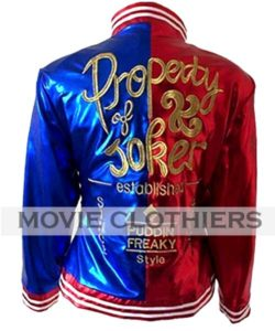 margot robbie harley quinn jacket harley quinn red and blue jacket