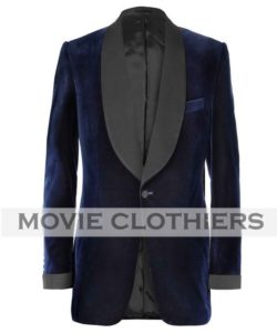 navy blue colin firth smoking jacket
