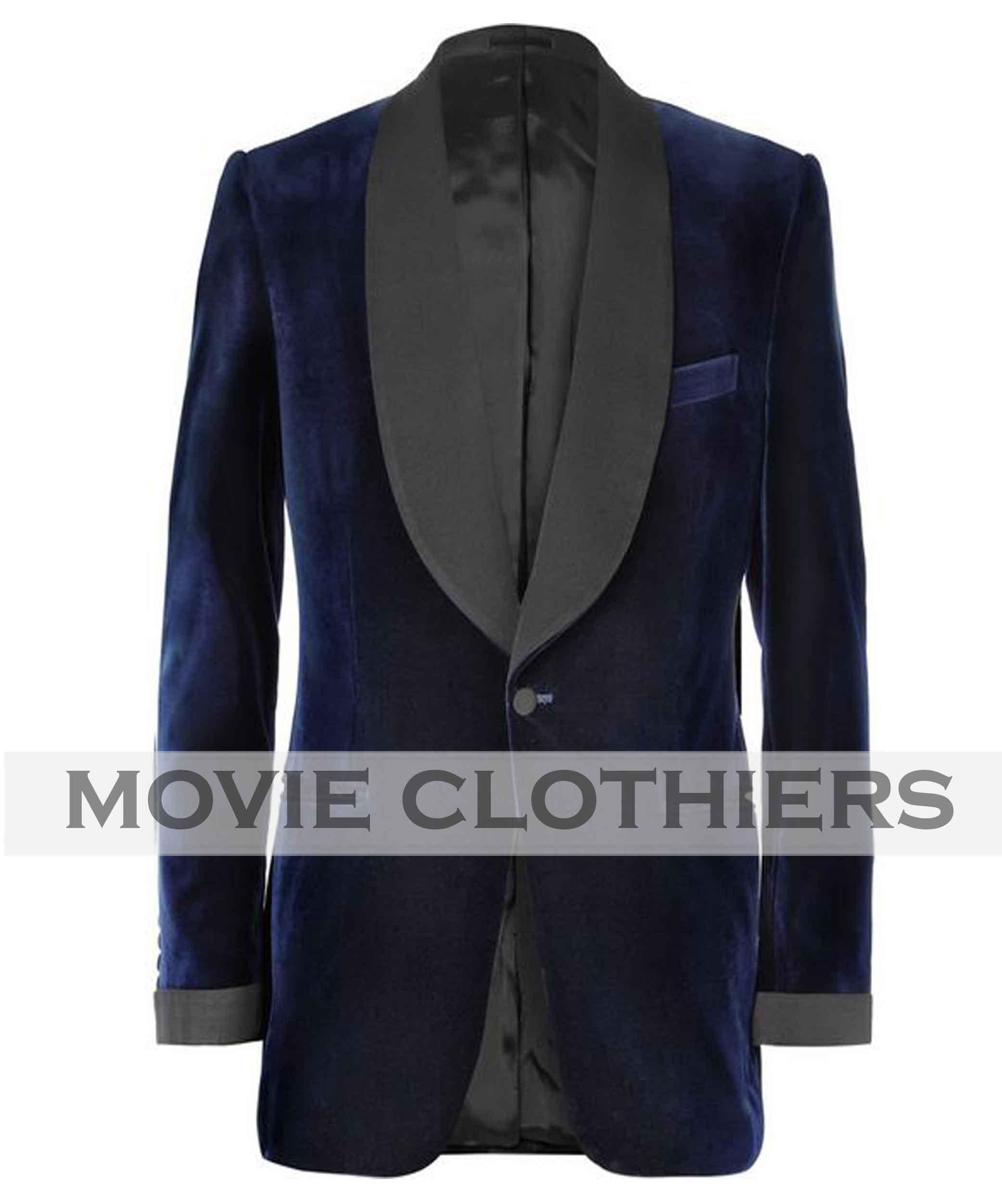 navy blue colin firth smoking jacket