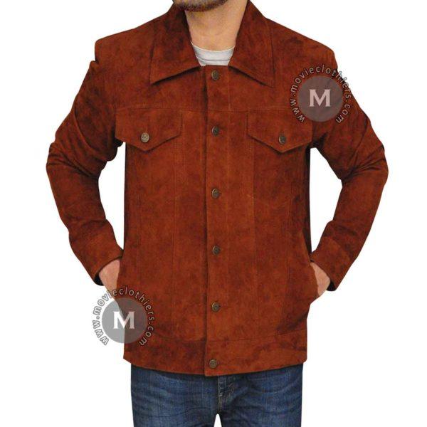 suede dlogan jacket