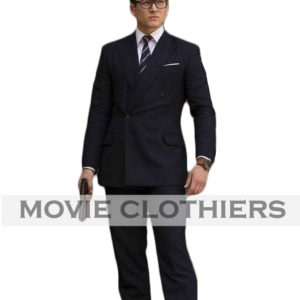 the kingsman 2 suit eggsy taron egerton double breasted suit