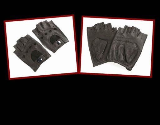Black Finger Less Gloves
