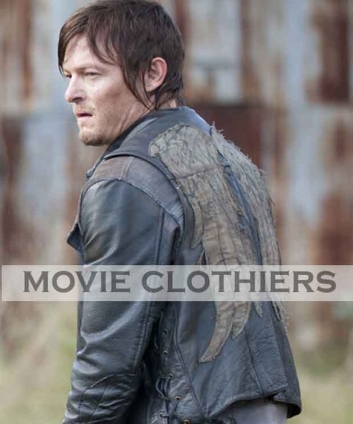 daryl leather vest clothing
