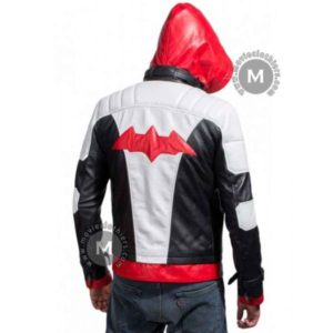 red hood helmet arkham knight costume jacket