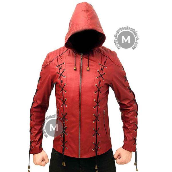 arsenal leather jacket