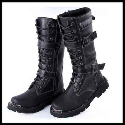 black-long-boots