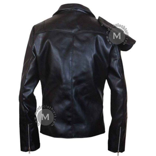 black mad max leather jacket