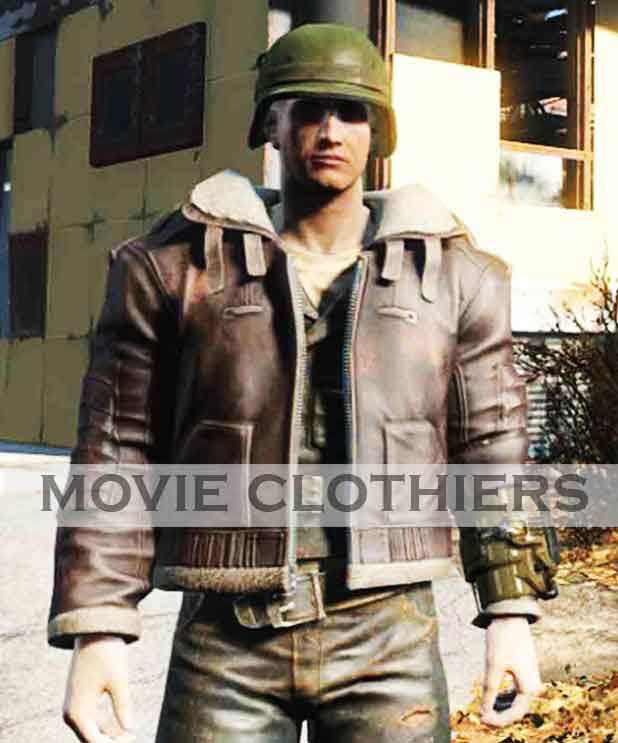 brotherhood of steel officer uniform pilot jacket