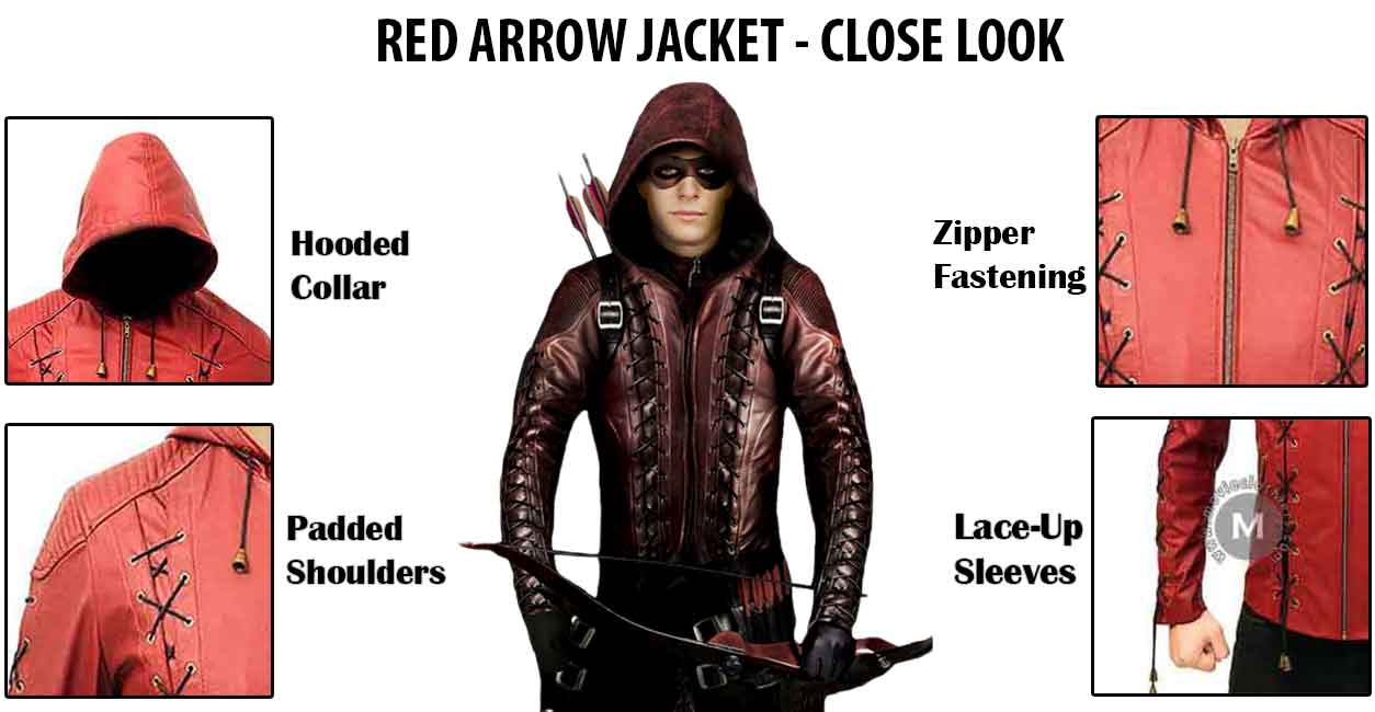 cw roy harper red arrow leather jacket