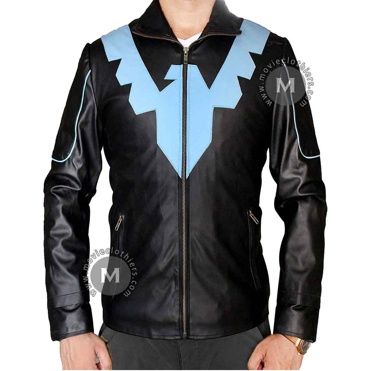 Batman Nightwing Leather Jacket For Sale-2710