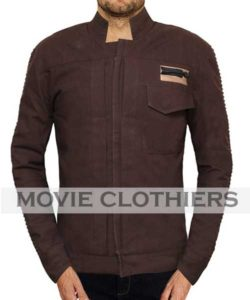 star wars rogue one cassian andor leather jacket