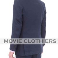 Blue Casino Royale linen Suit