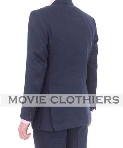 Blue Casino Royale linen Suit