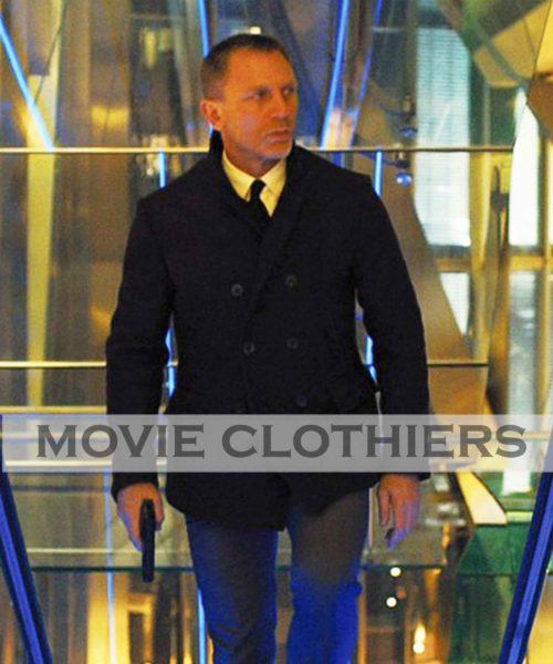 Daniel Craig james Bond peacoat Skyfall