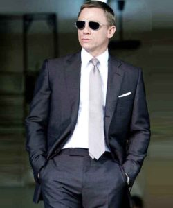 Quantum of Solace James Bond Charcoal Suit