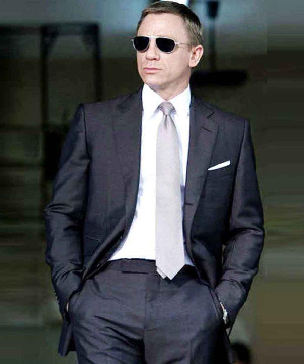 Quantum of Solace James Bond Charcoal Suit