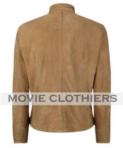 daniel craig speccre suede james bond brown leather jacket